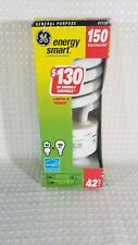 GE Instant On CFL 150W Using 42W 2700 Lumens Light Bulb• 11 Year Life• Med. Base