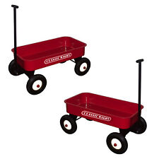 More details for great gizmos kids classic red pull cart outdoor garden trolley wagon carry toy