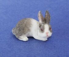 Miniature Dollhouse Gray Rabbit  1:12 Scale New
