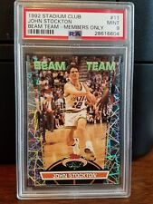 1992-93 Stadium Club Members Only Beam Team John Stockton #11 PSA 9 Mint
