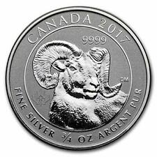 2017 $2 Canada .9999 3/4oz * Big Horn Sheep * Silver Reverse Proof