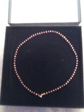 Pearls & Colors - 9 Carat Yellow Gold Freshwater Pearl Multi Row Necklace