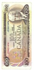 1975 One Hundred Canadian Dollar Bill