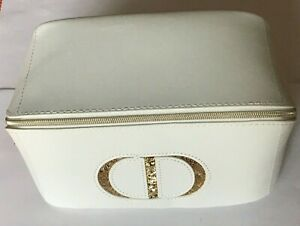 NEW CHRISTIAN DIOR ZIPPERED WHITE POUCH