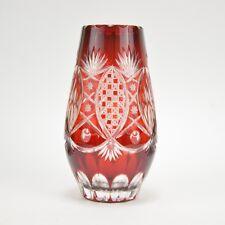 Vase en cristal rouge de Bohême 24 cm
