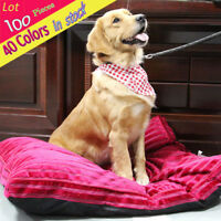 SJJ Lot 100 Pcs Puppy Dog Cotton Bandana Tie on Pet Collar Bows Scarf Grooming