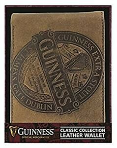 Guinness Classic Collection Brown Leather Wallet   (sg)