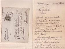 n°3)L.A.S 1918 de l'écrivain HENRI MATHONNET ST GEORGES au peintre andré Maillos