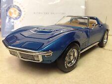 1/24 Franklin Mint Mulsanne Blue 1970 Corvette LT1 Ttops Coupe B11E557