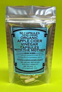 Apple Cider Vinegar Capsules With The Mother (700 milligrams) Organic Vegan Keto