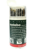 METABO 18pce ASSORTED DRILL BIT SET FOR TIMBER, METAL & MASONRY