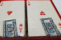 Vintage Playing Cards 2 Pack W/ Red Case US Internal Revenue Stamp Esna Rollpin