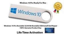 Microsoft Windows 10 Pro 32/64Bit Genuine USB Boot Installation Drive For Mac UK