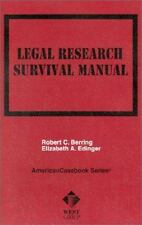 Berring's Legal Research Survival Manual (American Casebook Series and-ExLibrary