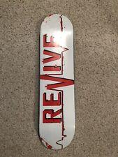 "Revive Skateboards White 'Lifeline' 8.5"" Deck w/Free Jessup Grip"