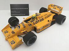 Campeones en miniatura 1:18 Ayrton Senna Lotus Honda 99T 1987 Camello Amarillo Muy Raro