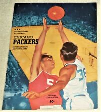 1961-62 CHICAGO PACKERS vs ST. LOUIS HAWKS PROGRAM (VERY GOOD CONDITION / PETTIT
