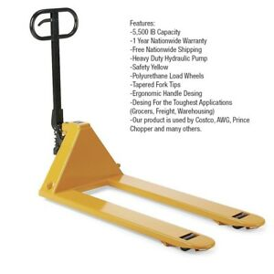 """PALLET JACK/ PALLET TRUCK/ HAND TRUCK 5500LB Capacity 27"""" X 48"""" (PICKUP ONLY)"""
