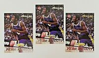 (Lot of 3X) KOBE BRYANT 1998 Collector's Edge Impulse #41 (Checklist), #56 & #96