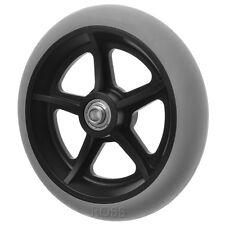 """200mm (8"""") Non-Marking Grey Rubber Wheelchair Wheel"""