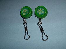 Dr Slick 2 Reels Pin-On 8 Ring Green Fly Fishing Retractor Reel Zinger RIS8G