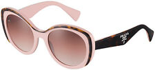 RARE Genuine PRADA Fashion Ladies Butterfly Havana Pink Sunglasses SPR12P MAL1Z1