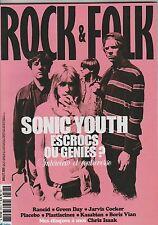 Rock & Folk N°503 Juillet 2009 Sonic Youth Placebo Kasabian Boris Vian...