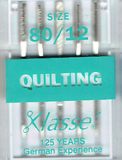 Klasse Quilting Machine Needles 80/12 for Janome Brother Sewing Machines