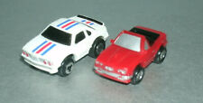 Two 1/125 Scale BMW Mini Toy Micro Size Cars ( M6 Coupe and 3-Series E30 Conv.)