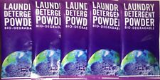 Single Sachet Earth Laundry Detergent Powder 20g x 5   Biodegradable   Travel