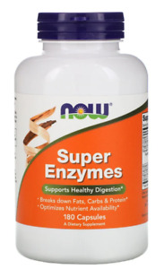Now Foods Super Enzymes 180 Capsules Healthy Digestion Advanced formula