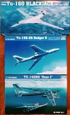 3 KITS TRUMPETER 1/144 TU160 BLACKJACK TU16K BADGER G TU142MR BEAR-J