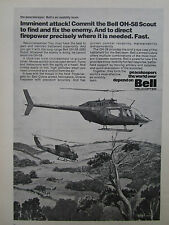 4/1974 PUB BELL HELICOPTER TEXTRON OH-58 SCOUT ARMED COBRA ORIGINAL  AD