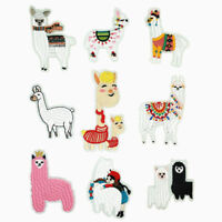 Cartoon Badges Alpaca Iron on Patch Cute Animal DIY Child Sheep Logo Appliques