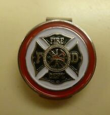 "Fire Department 1"" Golf Ball Marker & Hat Clip"