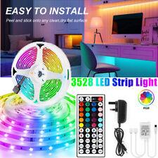 More details for led strip lights 10m 15m rgb color changing tape cabinet kitchen tv lighting uk