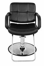 Black BarberPub Classic Hydraulic Barber Chair Salon Beauty Spa Styling