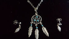 Sterling silver 925 dream catcher necklace/earrings set 44cm imported from Taxco