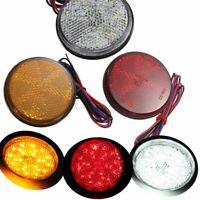 LED Rund Rücklicht Bremsleuchte Reflektor 3 Farben 12V Für Auto LKW Anhänger