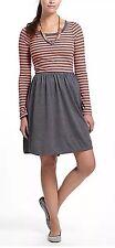 Anthropologie Saturday Sunday Flowerfield Striped Jersey Chemise Dress Sz Sm
