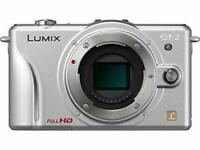 Panasonic Lumix DMC-GF2 Digital Micro Four Thirds Camera - Silver