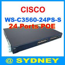 Cisco WS-C3560-24PS-S POE Network Switch 24 10/100 Ports + 2 SFP w/ Rack kits