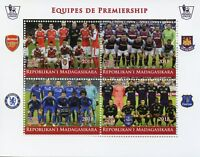 Madagascar 2018 CTO Premiership Football Arsenal Chelsea Everton 4v M/S Stamps