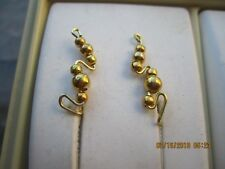 Pair Gold Tarnish Resistant Wire Ear Vines Climbers Ear Pins .... 017