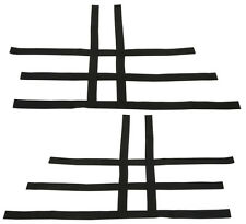 Warrior 350 Blaster 200   Nerf Bar Nets  Fit Alba Racing Tusk Black   A