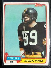Jack Ham 1981 Topps Football Card #235 Pittsburgh Steelers HOF