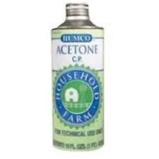 Humco Acetone Chemically Pure Liquid, 1 pint (8 Pack)