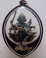 Monkey Hanuman 4 Head 8 Hand LP Kalong Wat Kholerm OLD Thai Buddha Amulet