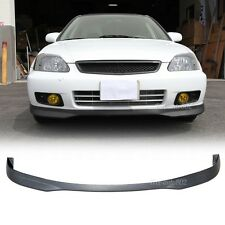 Fit For 99-00 Civic 4Dr 4Door T-R Front Bumper Lip Carbon Fiber Texture