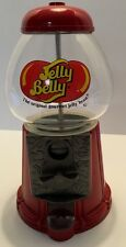 """Candy Gum Ball Dispenser Jelly Belly 11"""" Red Metal Glass Globe"""